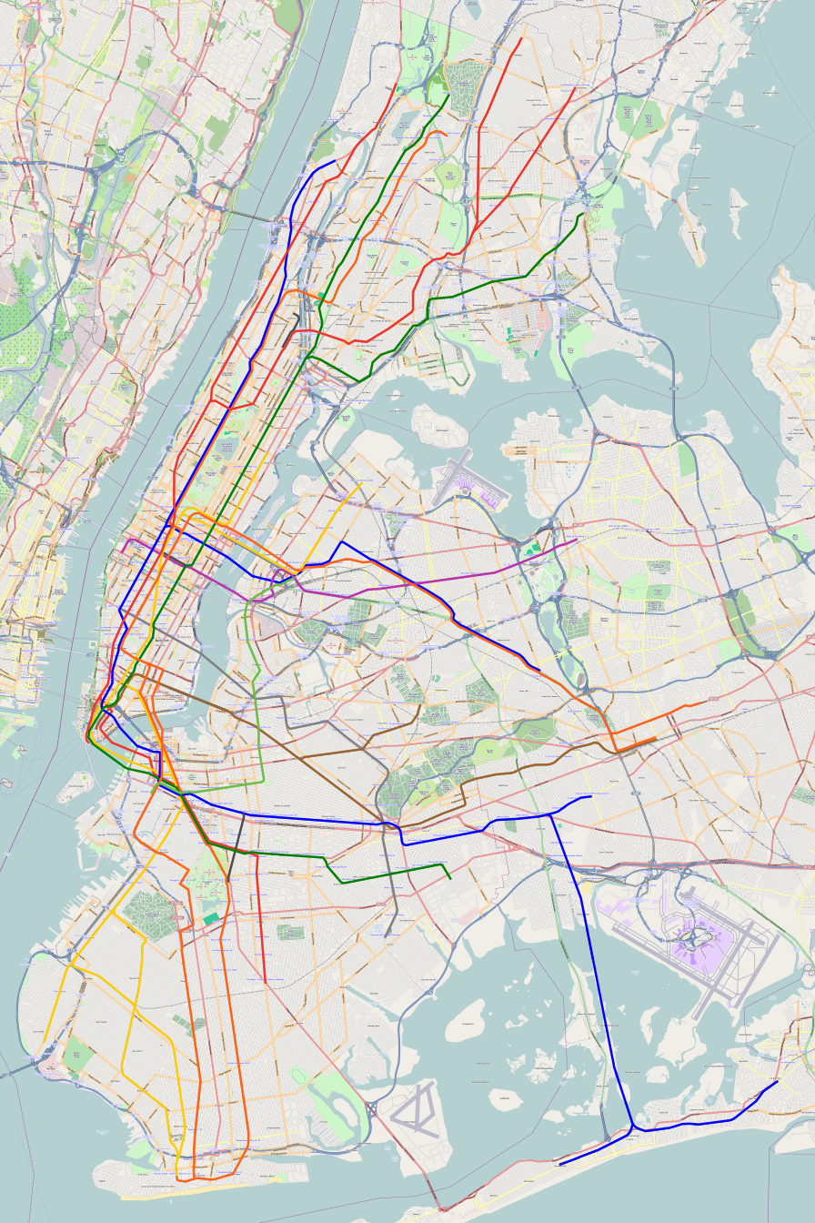 Train Subway Map New York.How Deinterlining Can Improve New York City Transit Pedestrian