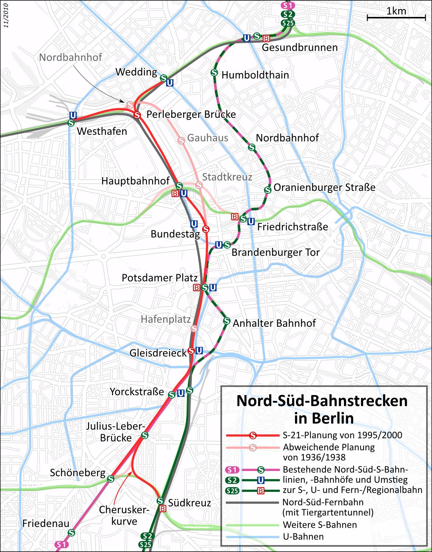 What Berlin Is Building Is Not What It Needs To Build Pedestrian - Berlin-us-bahn-map